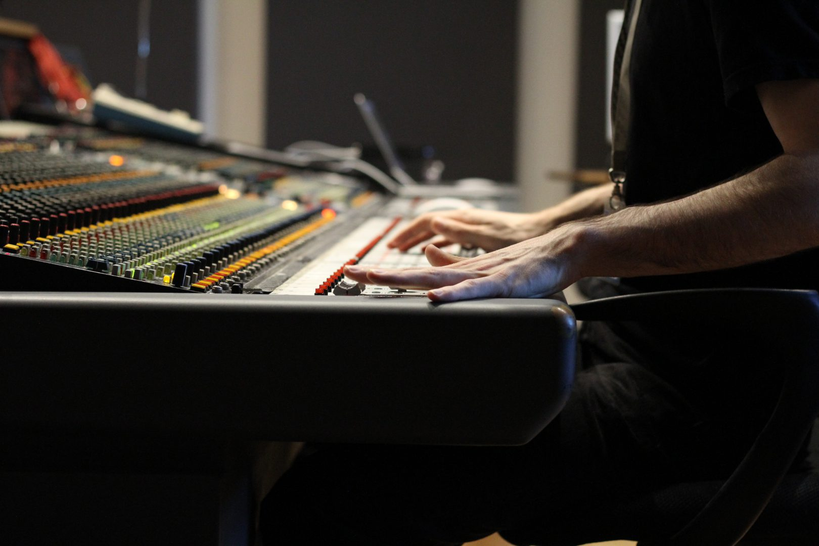Getting hands on with the Neve desk in our Spirit Studio