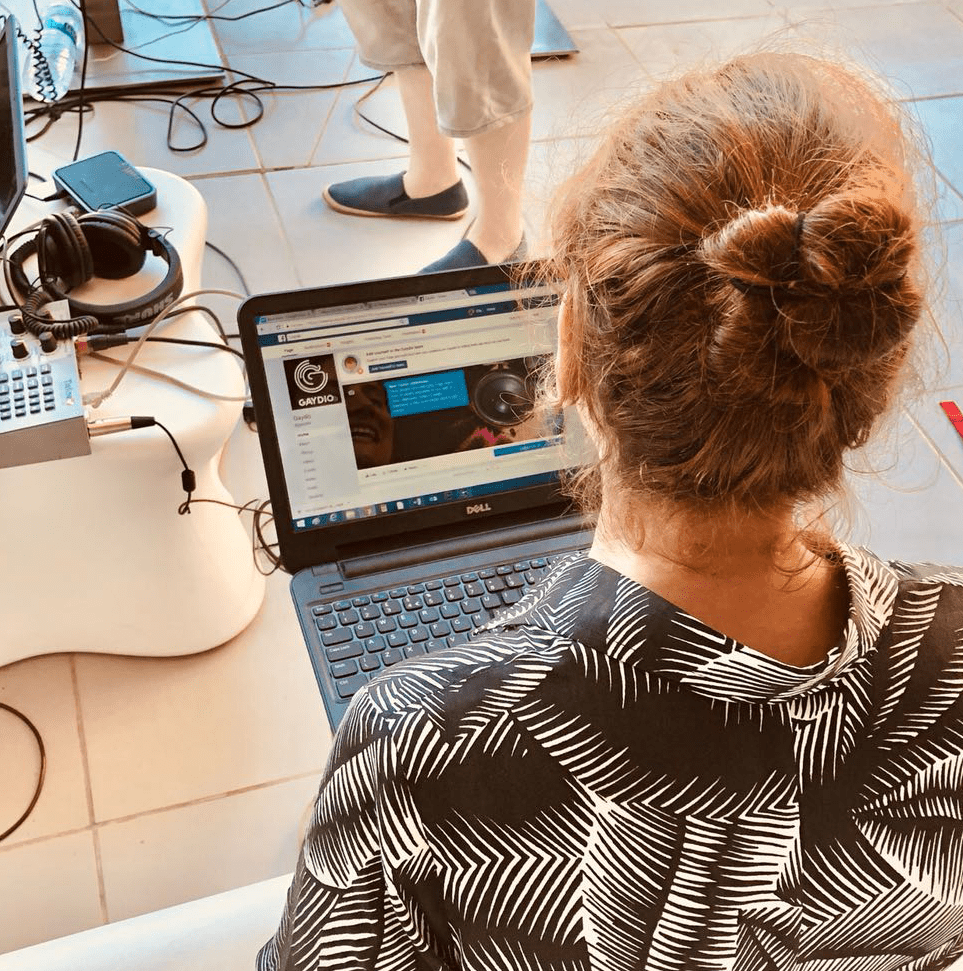 bbc-radio-producer-ellen-working-on-content-in-ibiza